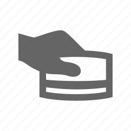 card, hand icon
