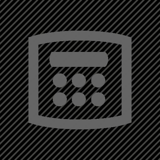 code, pin code, pin pad icon