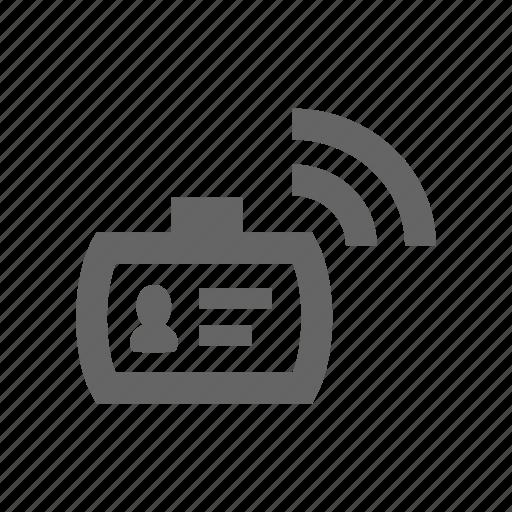 id, pass, radio icon