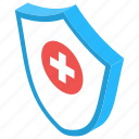 health insurance, health protection, healthcare, medical shield, medical treatment icon