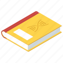 health book, medical book, medical booklet, medical journal, science book icon