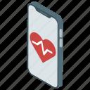 e health, heart app, lab app, medical app, smart lab icon