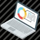 data analytics, donut chart, graphical analysis, online analytics, statistics icon