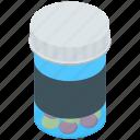 antibiotic, medicine container, medicine jar, pill bottle, prescription drug icon