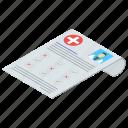 diet plan, medical report, patient card, prescription, rx icon