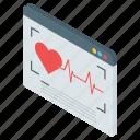 cardiology, digital checkup, ecg machine, ecg monitor, electrocardiogram, online check up icon