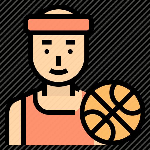athlete, basketball, career, man, player icon