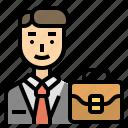 business, career, financier, human, man icon