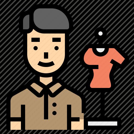 career, cloth, creative, designer, man icon