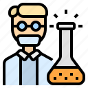career, chemical, chemist, chemistry, researcher icon