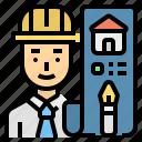 architect, career, engineer, man, taskmaster icon