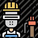 career, man, mechanic, steel, welder icon