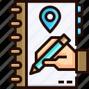 address, notebook, book, business, pencil, hand