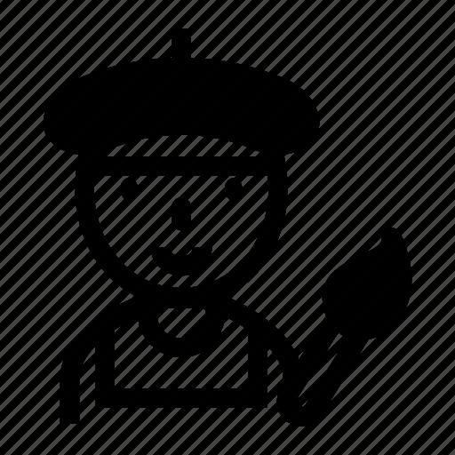 artist, avatar, career, designer, painter icon