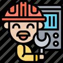 electrician, engineer, technician, mechanic, handyman