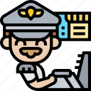 pilot, captain, aviator, airline, commander