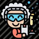 researcher, scientist, chemist, laboratory, experiment