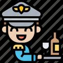 steward, crew, attendant, service, serve