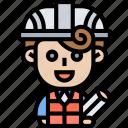 foreman, architect, helmet, engineer, construction