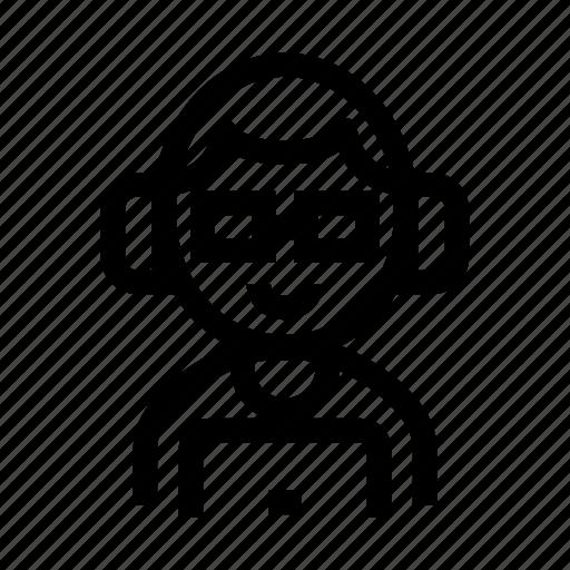 avatar, backend, developer, nerd, programmer icon
