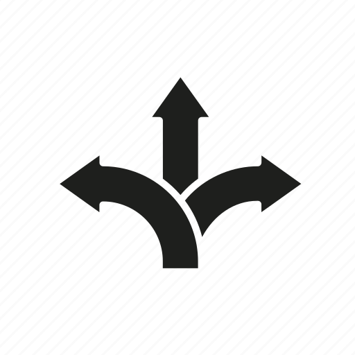 arrow, choice, decision, selection, solution, way icon