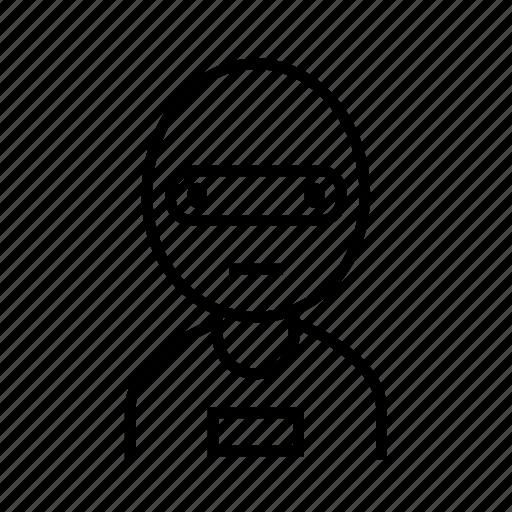 avatar, bandit, burglar, criminal, thief icon