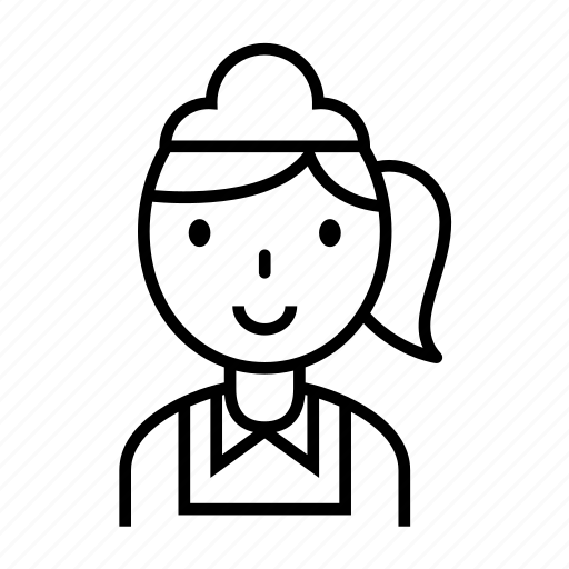 avatar, career, housekeeper, maid, waitress icon