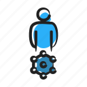 entrpeneur, manager, managing, marketeer, network, networking, resources icon