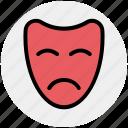 carnival symbol, celebrations, circus mask, festival mask, festivity, mask icon