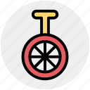 bike, cycle, mono cycle, unicycle, wheel icon