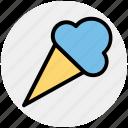 cone, cone ice cream, dairy product, dessert, frozen dessert, ice cream icon