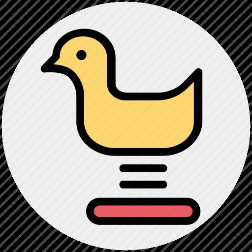 Entertainment, fun, park, playground, playground sitting duck, sitting duck icon - Download on Iconfinder