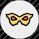 carnival mask, celebration, circus mask, eye mask, festival mask, male mask, mask icon