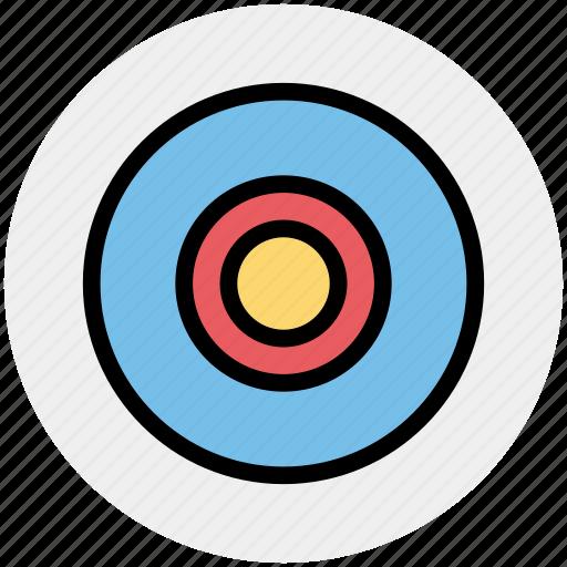 Bulls eye, dartboard, disc, goal, target icon - Download on Iconfinder