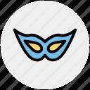 carnival mask, celebrations, circus mask, eye mask, festival mask, festivity, mask icon