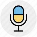 mic, microphone, old, recording mic, sound, volume icon
