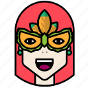 carnival, circus, festival, mask