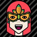 carnival, circus, festival, mask icon