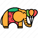animal, carnival, circus, elephant, festival icon
