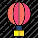 balloon, hot, air, flight, travel, trip