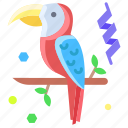 parrot, bird