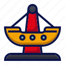 amusement, boat park, carnival, circus, parade, swing boat, theme park icon