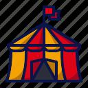 amusement, carnival, circus, circus tent, fairground, parade, show icon