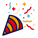amusement, carnival, circus, confetti, parade, party, popper icon