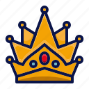 amusement, carnival, circus, crown, festival, king, parade icon