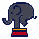 amusement, animal, attractions, carnival, circus, elephant, parade icon