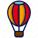 air balloon, amusement, carnival, circus, hot air balloon, parade, travel icon