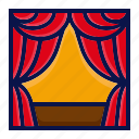 amusement, carnival, circus, curtain, parade, performance, stage icon