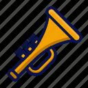 amusement, carnival, circus, instrument, music, parade, trumpet