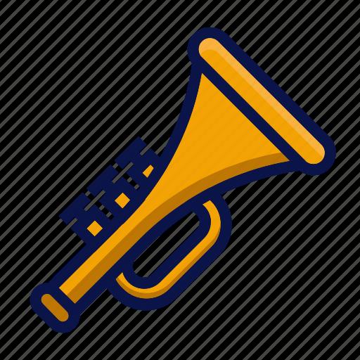 amusement, carnival, circus, instrument, music, parade, trumpet icon